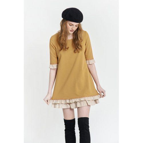 vestido color mostaza de maggie sweet